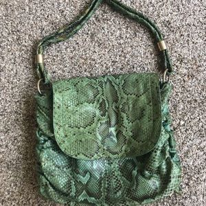 TODS soft snakeskin shoulder bag